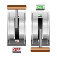 Ilustración de diseño de vector de interruptor de encendido y apagado aislado sobre fondo blanco