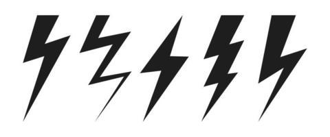 Thunder lighting bolt vector design illustration isolated on white background