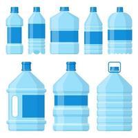 Ilustración de diseño de vector de botella de agua aislada sobre fondo blanco