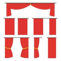 Theater curtain set vector