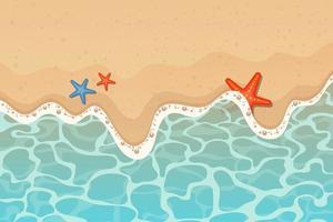 Ilustración de diseño de vector de fondo de mar y playa
