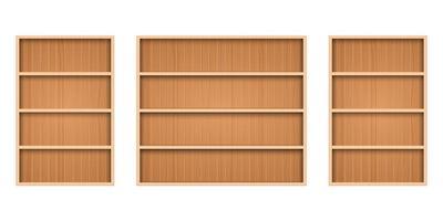 juego de estantes de madera vector