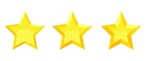 Rating stars vote vector design illustration isolated on white background