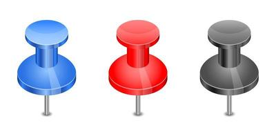 Push pin set vector design illustration isolated on white background