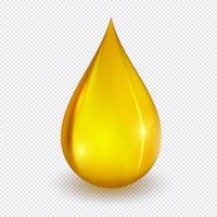 Realistic vector honey drop.