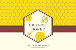 Honey background with bees and cells vector