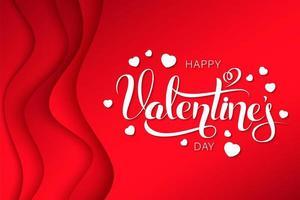 Happy valentines day wavy layers design
