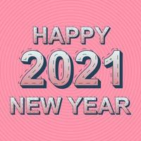 Happy 2021 new year template design