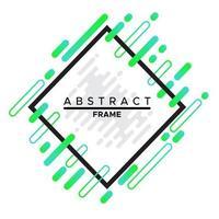 diseño de marco, marco negro dinámico con formas geométricas abstractas de moda sobre un fondo blanco