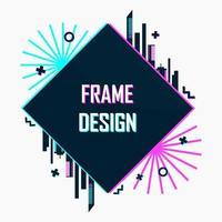Modern abstract futuristic frame design