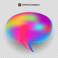 concepto fluido del fondo de la transparencia del color vibrante de la burbuja del discurso. vector