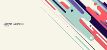 banner diseño de plantilla web abstracto dinámico líneas redondeadas patrón diagonal fondo geométrico vector