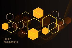 Fondo de panal hexagonal. patrón simple de celdas de panal de abejas. ilustración. vector. impresión geométrica.