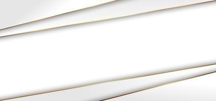 Fondo abstracto moderno elegante triángulo blanco con estilo de lujo de línea dorada. vector