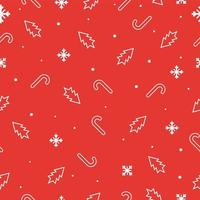Seamless christmas pattern with snowflakes, christmas trees and candys
