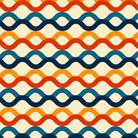 Wave lines pattern retro color style background
