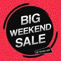 Square sale promotion banner design template
