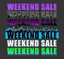 Weekend sale lettering design set