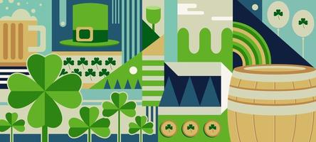 Abstract Shamrock Background Concept vector