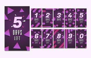 Countdown Story Purple Template