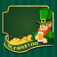 Cheers With Leprechaun for St. Patrick's Day