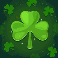 Sprinkle Lucky Green Shamrock Leaf