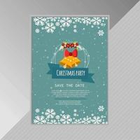 Snowflake Poster with Christmas Bell vector