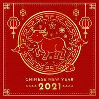 Golden Chinese New Year 2021