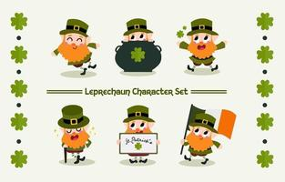 Happy Leprechaun On St.Patrick's Day Character
