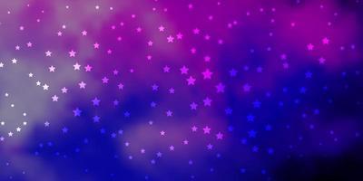 patrón de vector de color rosa oscuro, azul con estrellas abstractas.