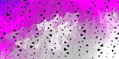 diseño de mosaico de triángulo vector rosa claro.