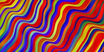 Telón de fondo de vector multicolor claro con curvas.
