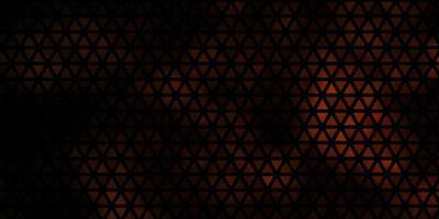Dark Orange vector background with polygonal style.