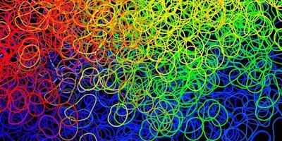 Fondo de vector multicolor oscuro con formas aleatorias.