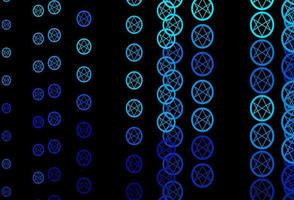 Dark BLUE vector backdrop with mystery symbols.