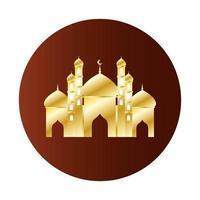 Golden Taj Mahal Ramadan Kareem Temple vector
