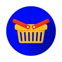 Cesta de la compra icono aislado de marketing