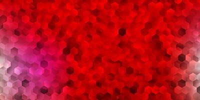 Fondo de vector rojo claro con formas aleatorias.
