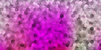 plantilla de vector rosa claro, verde con formas abstractas.