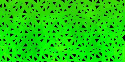 Dark green vector abstract triangle pattern.