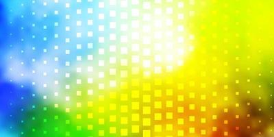 Fondo de vector multicolor claro con rectángulos.