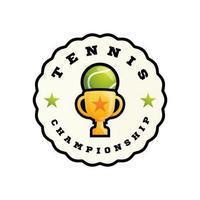 Tennis abstract shape vector logo