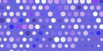 plantilla de vector de color púrpura claro con círculos.