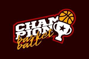 Champion basketball vector logo