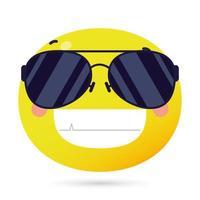 emoji face happy wearing sunglasses vector
