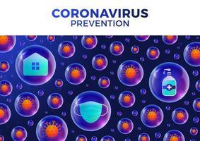 banner o patrón con virus corona vector