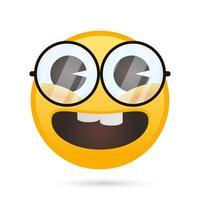 emoji face nerd funny character vector