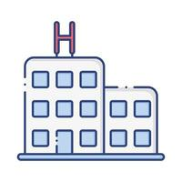 hospital building flat style icon