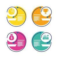 icono de estilo plano de estadísticas de infografías de economía vector