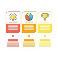 success set icons infographics statistics flat style vector